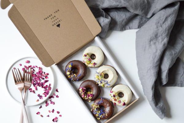 Box of ring doughnuts