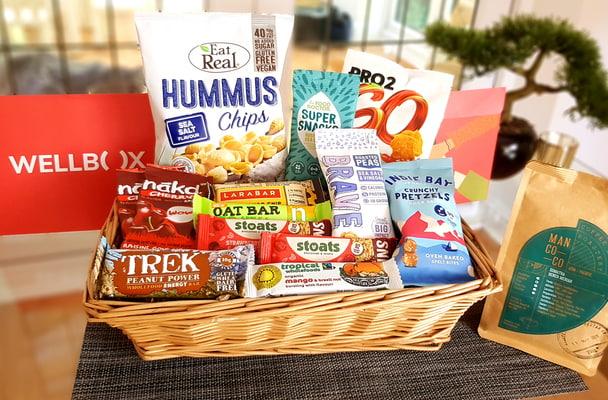 basket full of snacks
