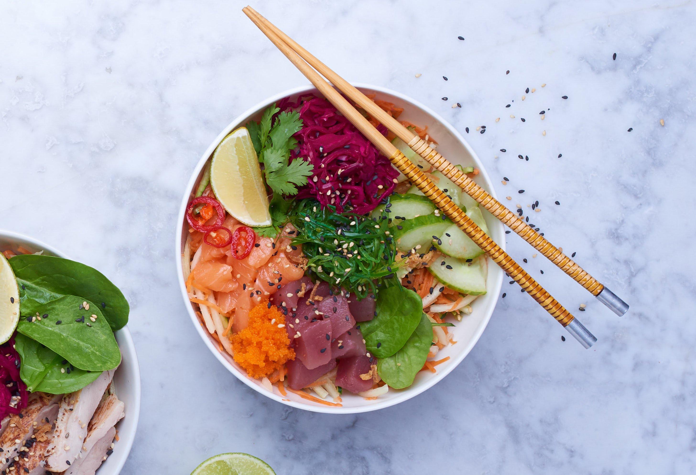 City Pantry - Abokado lunch menu - Tuna & Salmon Poke