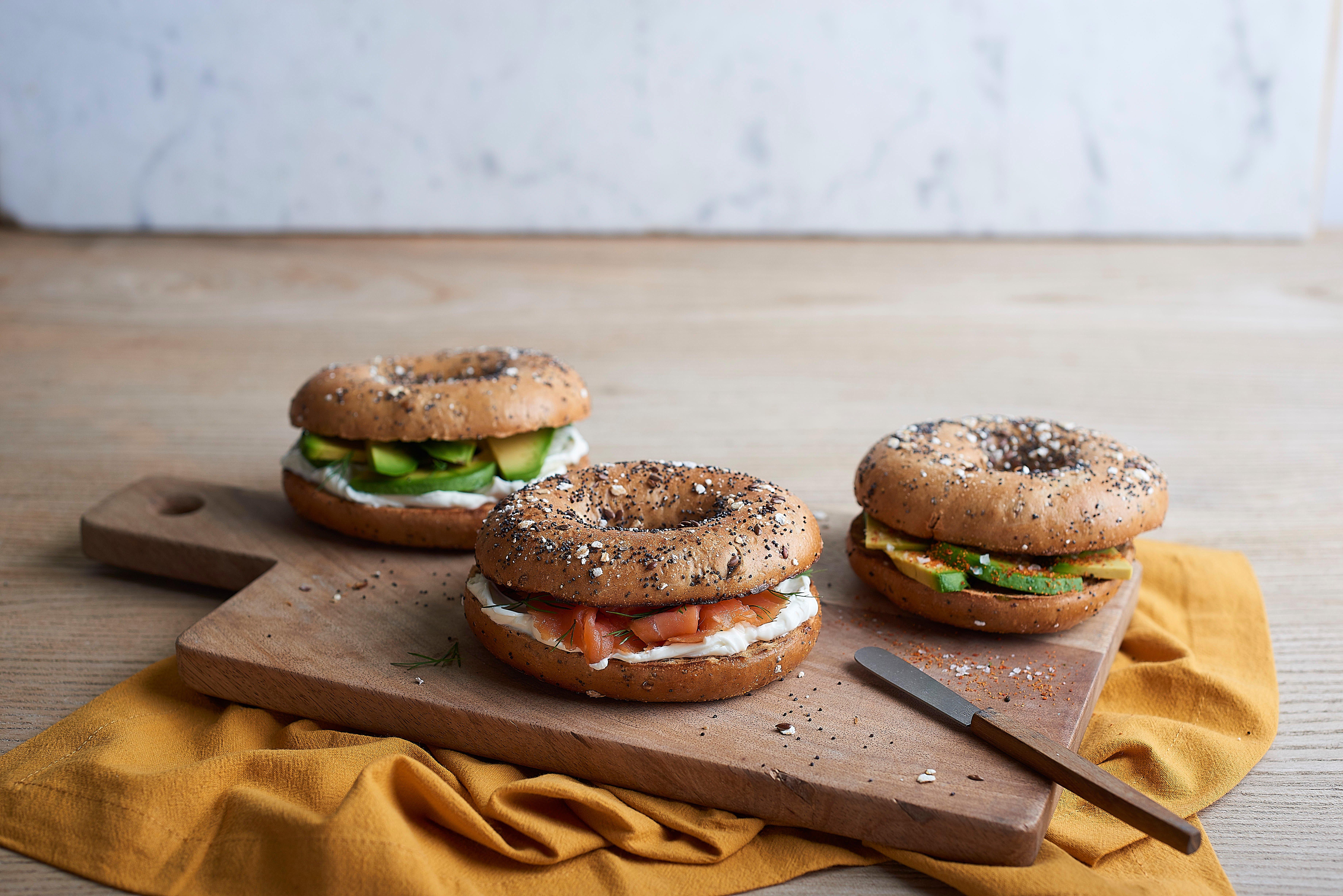 City Pantry - Abokado lunch menu - Smoked Salmon & Cream Cheese Bagel