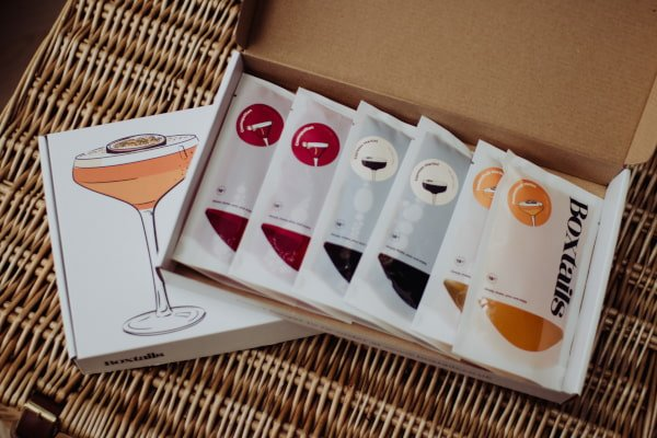 Cocktail sachets in a box