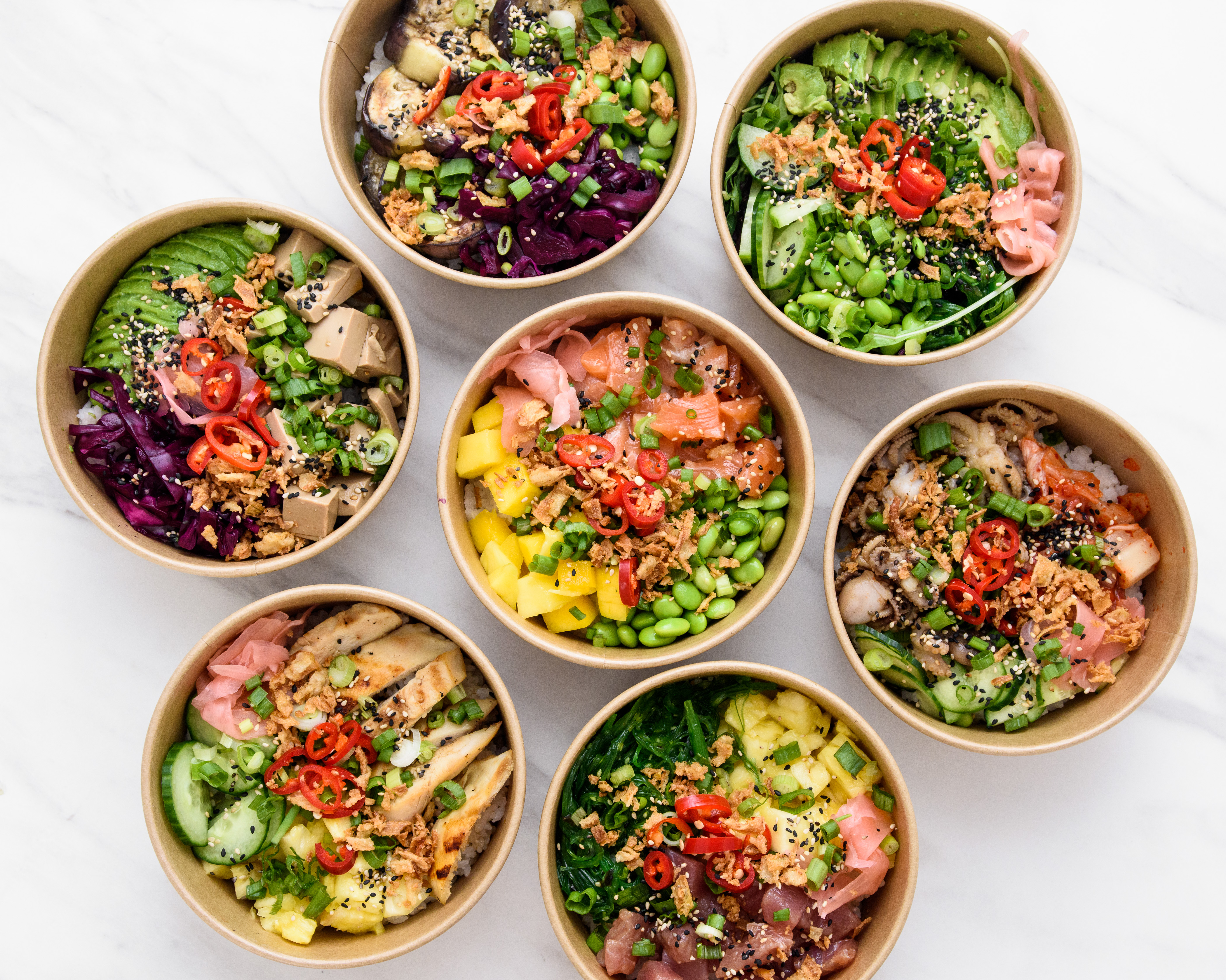 Poké bowls in London - Maui poke