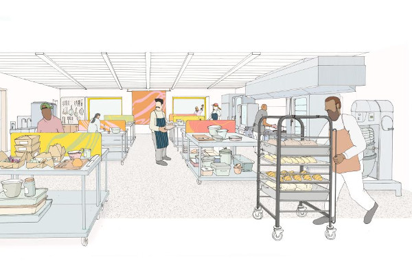Illustration of what Mission Kitchen will look like