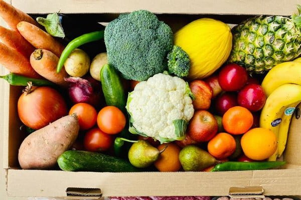 Box of fresh veg